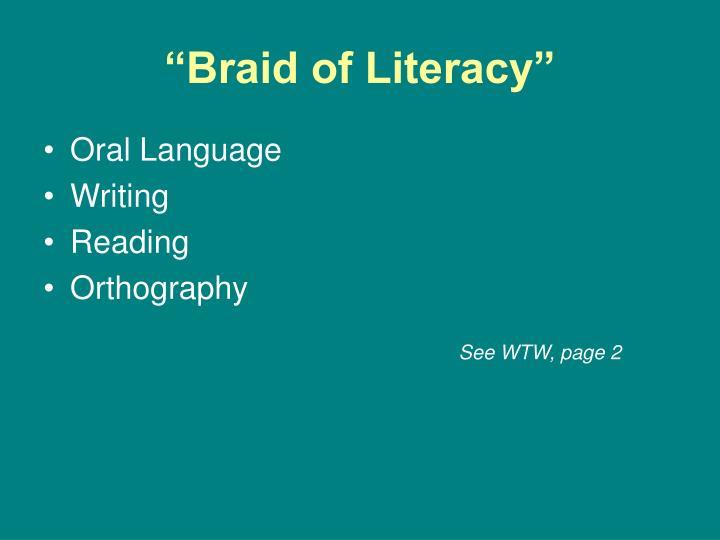 """Braid of Literacy"""