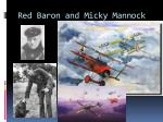 red baron and micky mannock