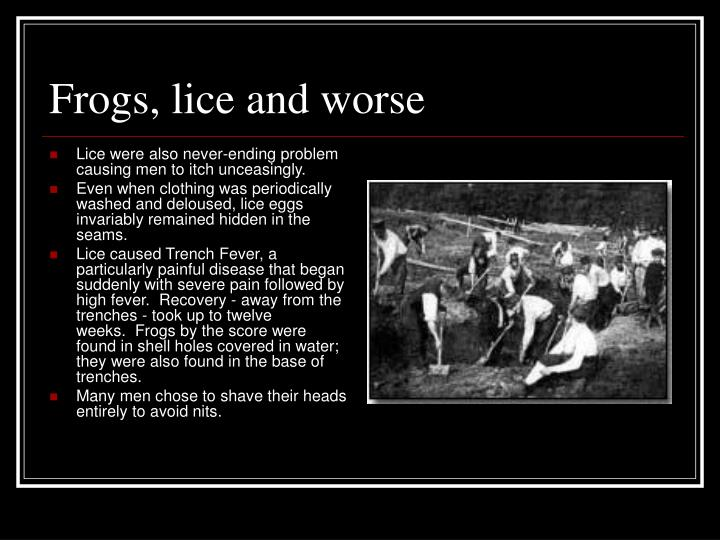 Frogs, lice and worse