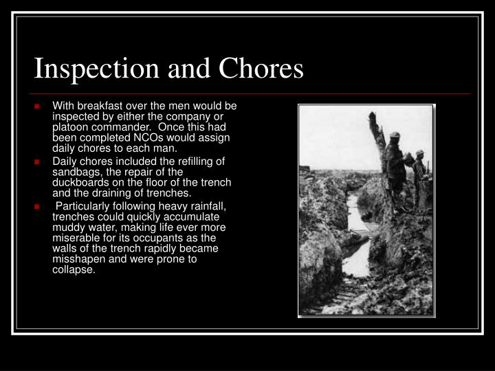 Inspection and Chores