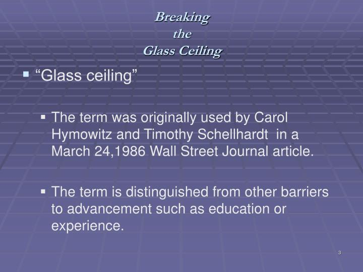 Breaking the glass ceiling2