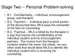 stage two personal problem solving2