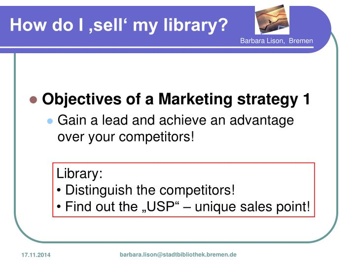 Objectives of a Marketing strategy 1