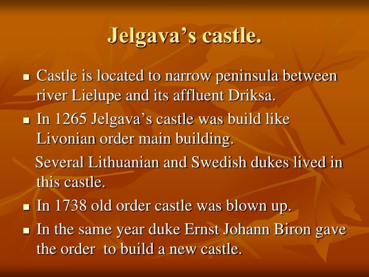 Jelgava s castle