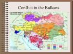 conflict in the balkans1
