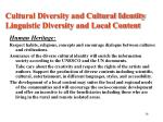 cultural diversity and cultural identity linguistic diversity and local content