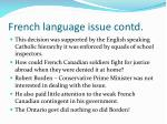 french language issue contd