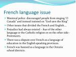 french language issue