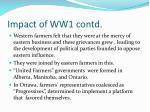 impact of ww1 contd1