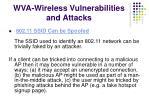 wva wireless vulnerabilities and attacks1