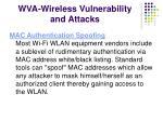 wva wireless vulnerability and attacks
