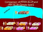comparison of fpmm blup and mm blup sample space