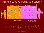 mse of blups vs true latent values1
