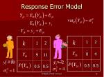 response error model