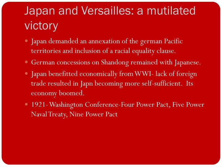 Japan and Versailles: a mutilated victory