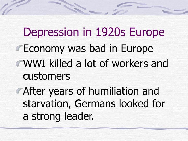 Depression in 1920s Europe