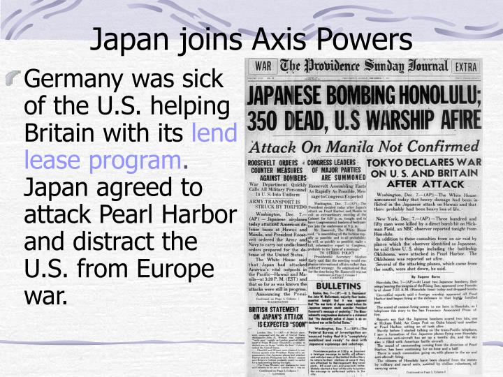 Japan joins Axis Powers
