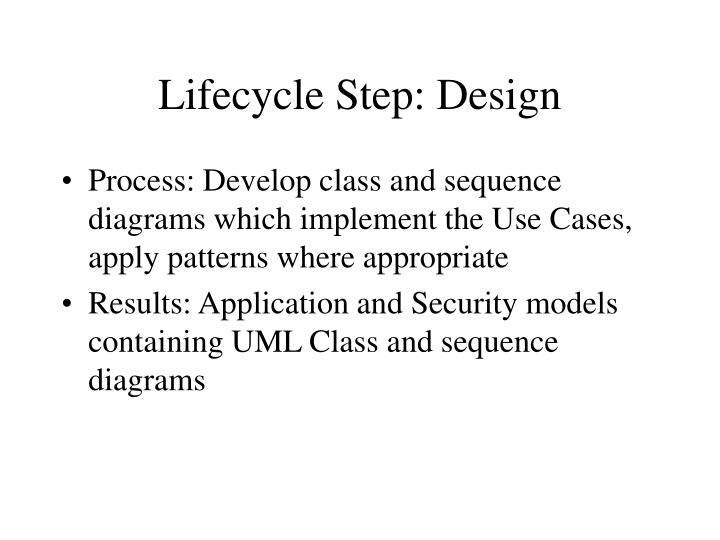 Lifecycle Step: Design