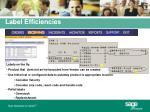 label efficiencies