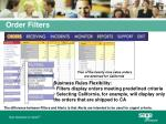 order filters