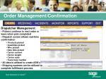 order management confirmation