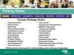 picking styles