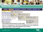 receiving locations