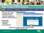 sage accapc wms synopsis