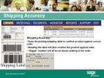shipping accuracy