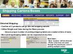 shipping cartons boxes