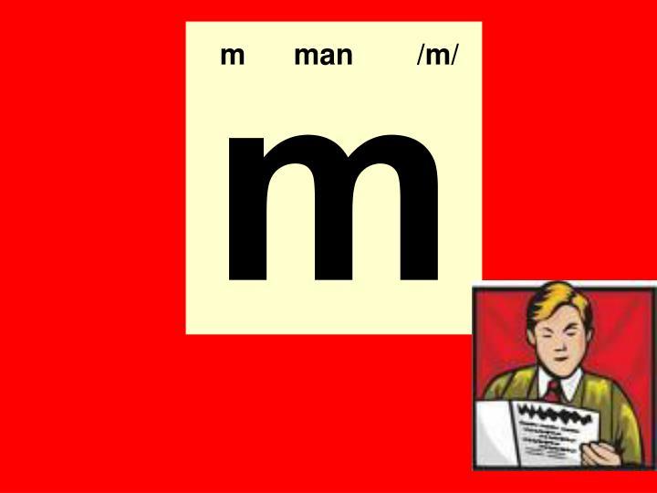m man /m/