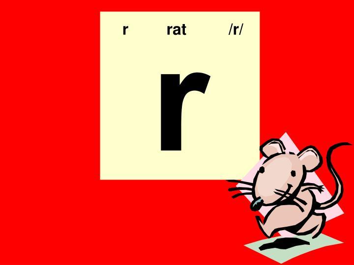 r  rat    /r/