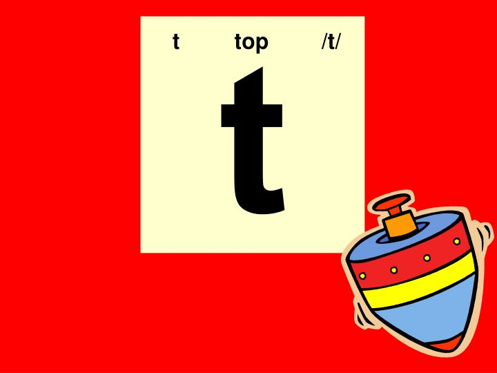t  top   /t/