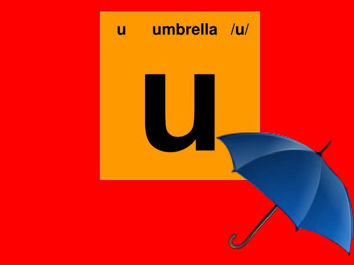 uumbrella   /u/