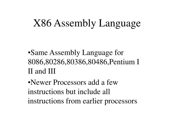 x86 assembly language n.