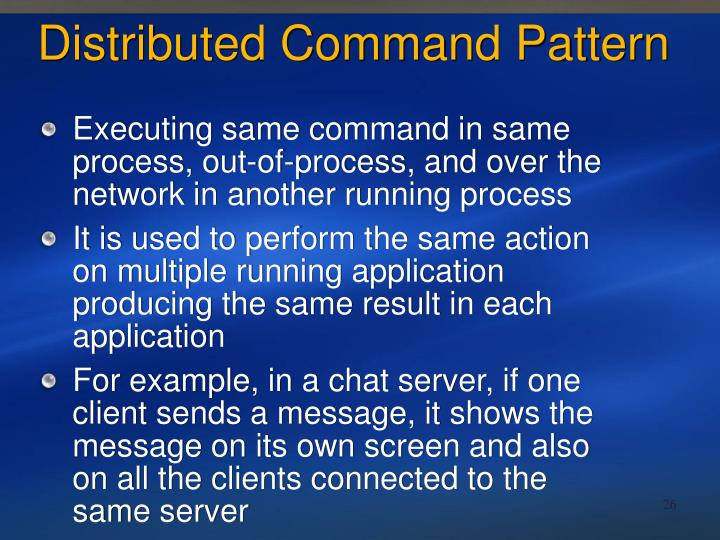 Distributed Command Pattern