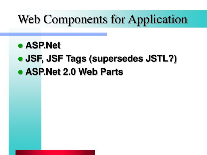 Web Components for Application