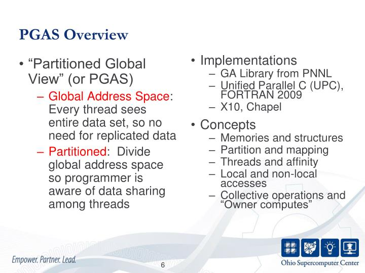 PGAS Overview