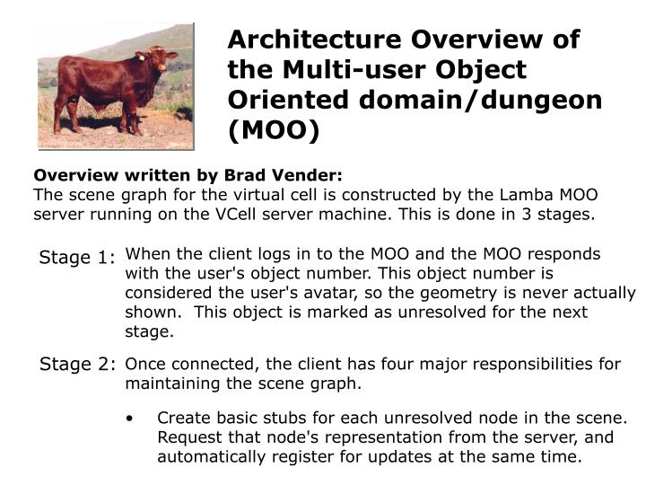 Architecture Overview of the Multi-user Object Oriented domain/dungeon