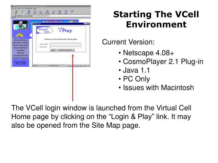 Starting The VCell Environment