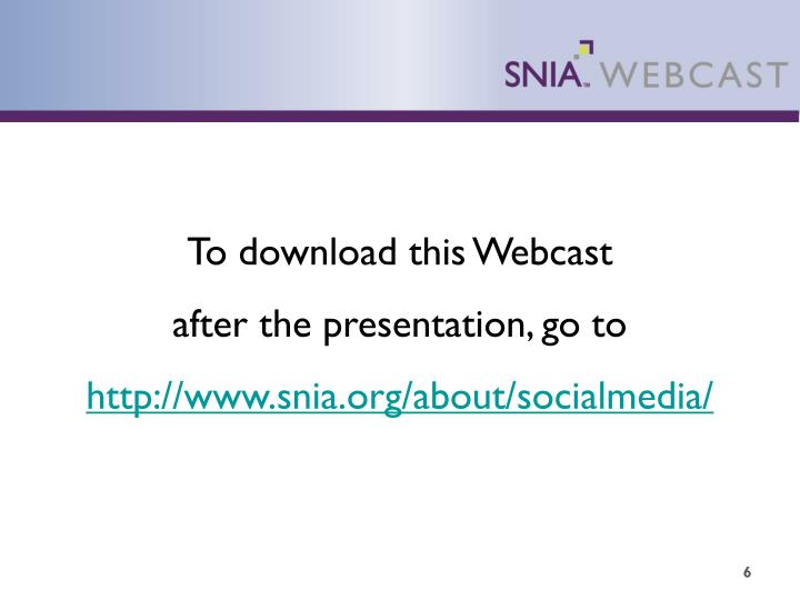 To download this Webcast