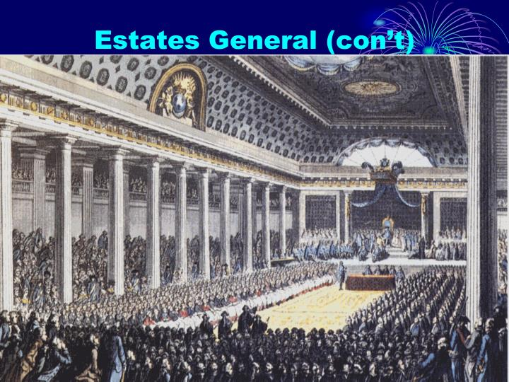 Estates General (con't)