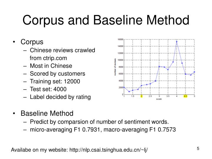 Corpus and Baseline Method