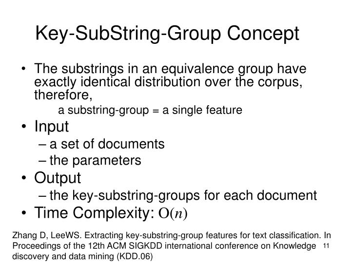 Key-SubString-Group Concept