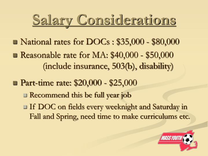 Salary Considerations
