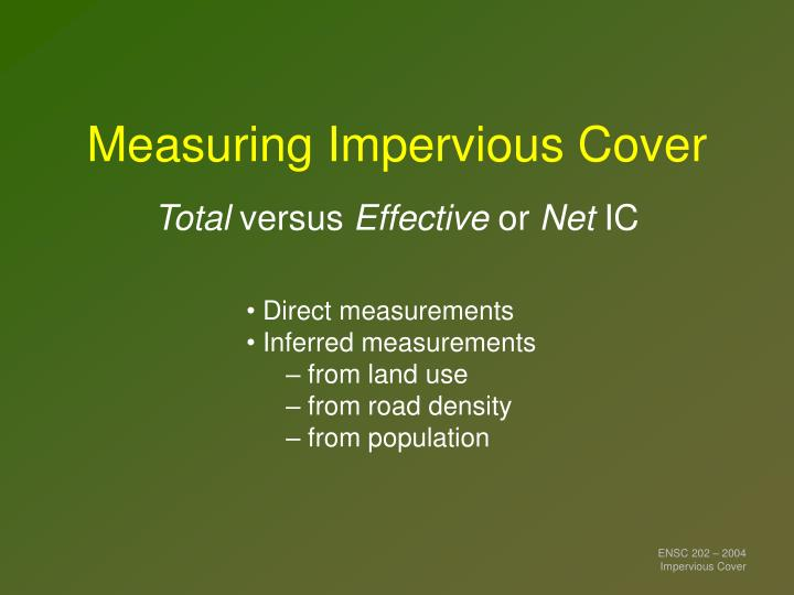 Measuring Impervious Cover