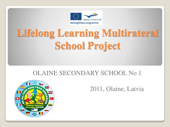 lifelong learning multirateral school project n.