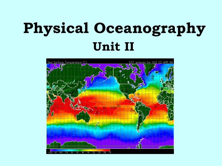 physical oceanography n.