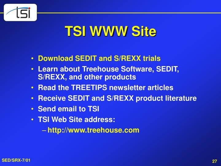TSI WWW Site
