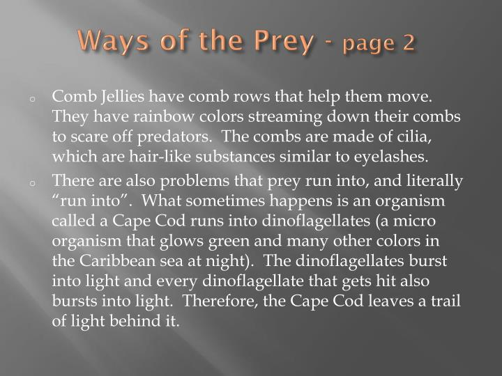 Ways of the Prey -